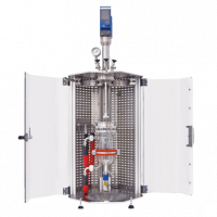 Jacketed glass pressure reactor