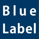 Blue label logo