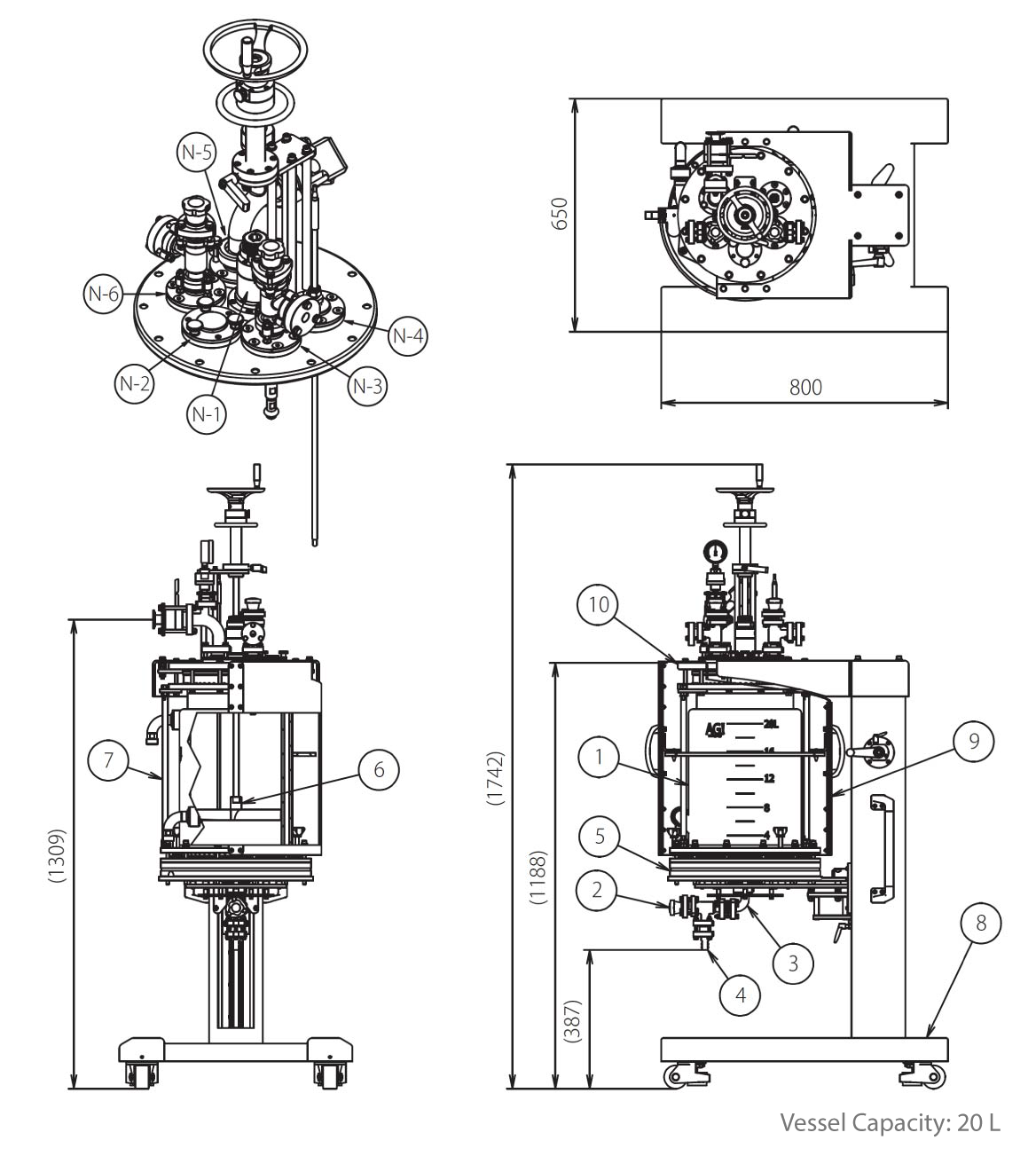 Pilot Plant Nutsche Filter Specifications