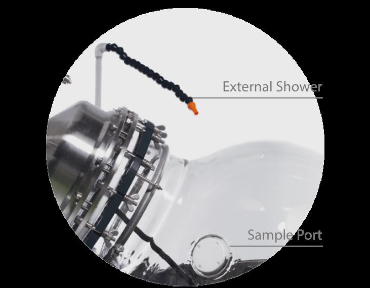 Rotary Evaporator External Shower and Sample Port